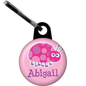 First Birthday Ladybug Personalized Zipper Pull (each)