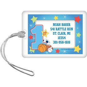 First Birthday Sport Star Personalized Luggage Tag (each)