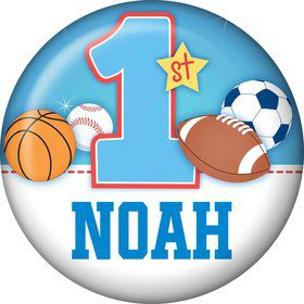 First Birthday Sport Star Personalized Mini Magnet (each)