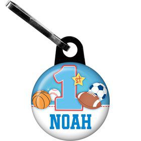 First Birthday Sport Star Personalized Zipper Pull (each)