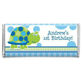First Birthday Turtle Personalized Candy Bar Wrapper (Each)