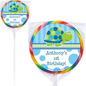 First Birthday Turtle Personalized Lollipop (pack of 12)