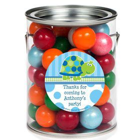 First Birthday Turtle Personalized Paint Can Favor Container (6 Pack)