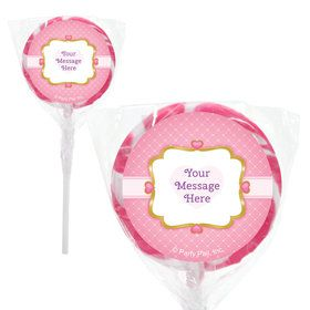 "First Princess Personalized 2"" Lollipops (20 Pack)"