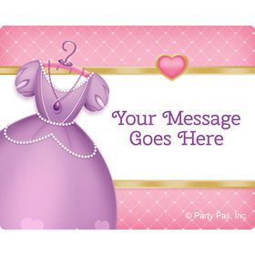 First Princess Personalized Rectangular Stickers (Sheet of 15)