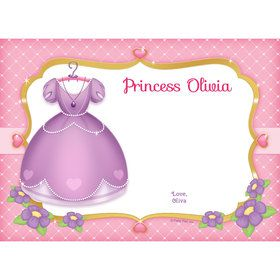 First Princess Personalized Thank You (Each)