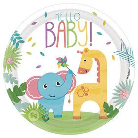 "Fisher Price Hello Baby 7"" Dessert Plates (8)"
