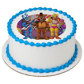 "Five Nights At Freddys 7.5"" Round Edible Cake Topper (Each)"