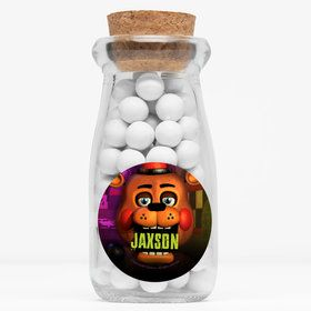 "Five Nights at Freddy's Personalized 4"" Glass Milk Jars (Set of 12)"