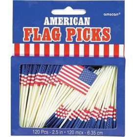 Flag Picks (120 Count)