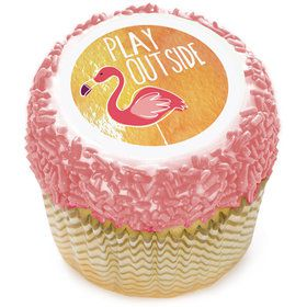 "Flamingo 2"" Edible Cupcake Topper (12 Images)"