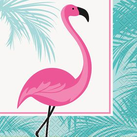 Flamingo Beverage Napkins (16 Count)