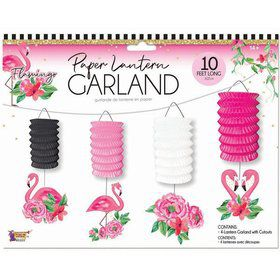 Flamingo Paper Lantern Set