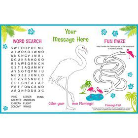 Flamingo Personalized Activity Mat (8 Pack)
