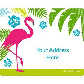 Flamingo Personalized Address Labels (Sheet of 15)