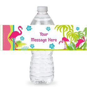 Flamingo Personalized Bottle Label (Sheet of 4)