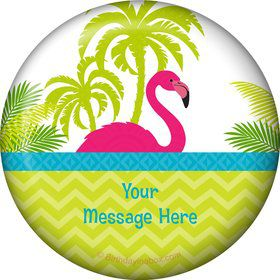 Flamingo Personalized Button (Each)