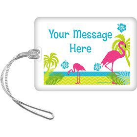 Flamingo Personalized Luggage Tag (Each)
