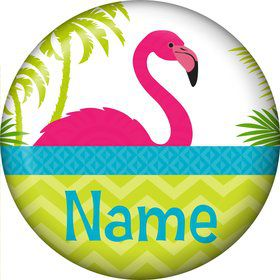 Flamingo Personalized Mini Button (Each)