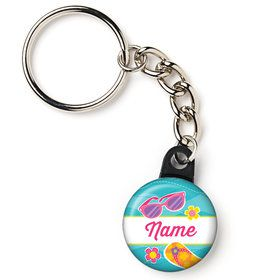 "Flip Flop Fun Personalized 1"" Mini Key Chain (Each)"