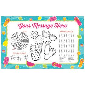 Flip Flop Fun Personalized Activity Mat (8 Count)