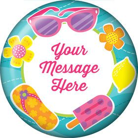 Flip Flop Fun Personalized Button (Each)