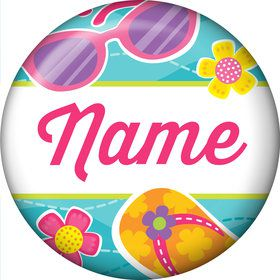 Flip Flop Fun Personalized Mini Button (Each)