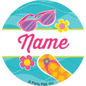 Flip Flop Fun Personalized Mini Stickers (Sheet of 24)