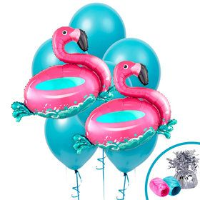 Floating Flamingo Jumbo Balloon Bouquet