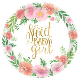 Floral Baby Dinner Plate (8)
