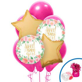 Floral Baby Girl Balloon Bouquet