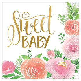 Floral Baby Luncheon Napkin (16)