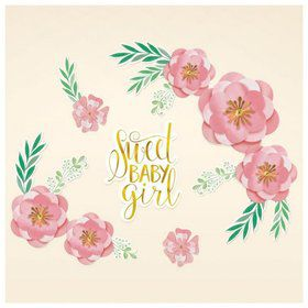 Floral Baby Party Backdrop Decorations
