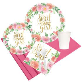 Floral Baby Party Pack for 8