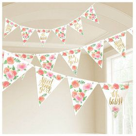 Floral Baby Pennant Banner (1)