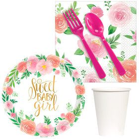 Floral Baby Snack Pack for 16