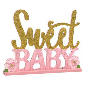 Floral Baby Stand Up Sign