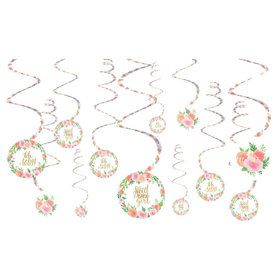 Floral Baby Swirl Decorations(12)