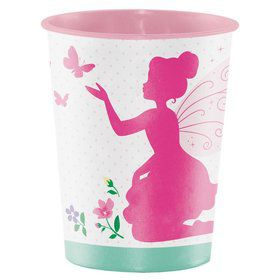 Floral Fairy 16oz Plastic Favor Cup (1)