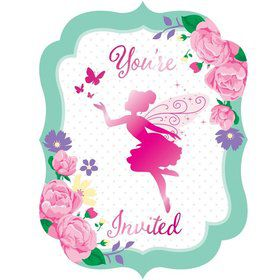 Floral Fairy Invitations (8)