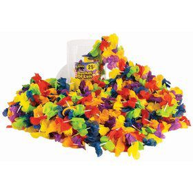 Floral Multi Color Bucket of Leis (25 Count)