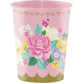 Floral Tea Party 16oz Plastic Favor Cup (1)