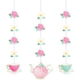 Floral Tea Party Hanging Decorations (3)