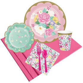 Floral Tea Party Pack (8 Count)
