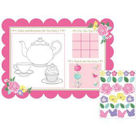 Floral Tea Party Paper Placemats (8)