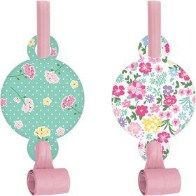 Floral Tea Party Party Blowers (8)