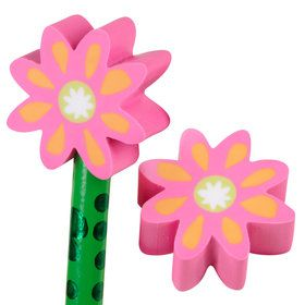 Flower Eraser Toppers (20)