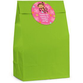 Flower Monkey Personalized Favor Bag (Set Of 12)