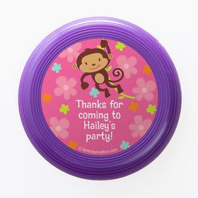 Flower Monkey Personalized Mini Discs (Set of 12)