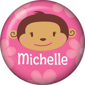 Flower Monkey Personalized Mini Magnet (each)